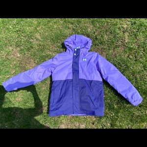 PURPLE UNDER ARMOR SKI JACKET